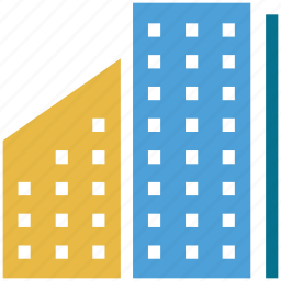 apartments, building, estate, real icon