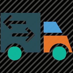 delivery van, moving truck, service, van icon