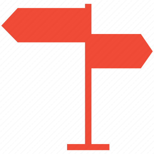 directions, info, signboard, signpost icon