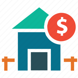 dollar, home, payment, real estate icon