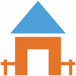 estate, home, real, shack icon