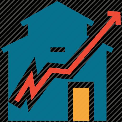 demand, home, real estate, value icon