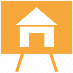 design, easel, home, real estate icon
