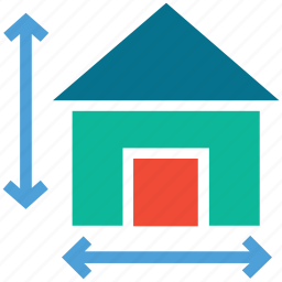 arrows, directions, house, real estate icon