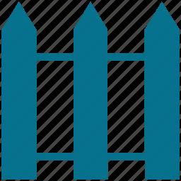 fence, garden, house, wooden boundary icon