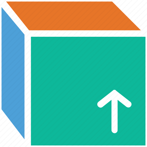 arrow, box, up, upload icon