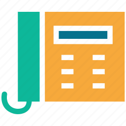communication, landline, telephone, telephone set icon