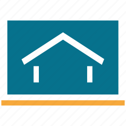 display, home, house, screen icon