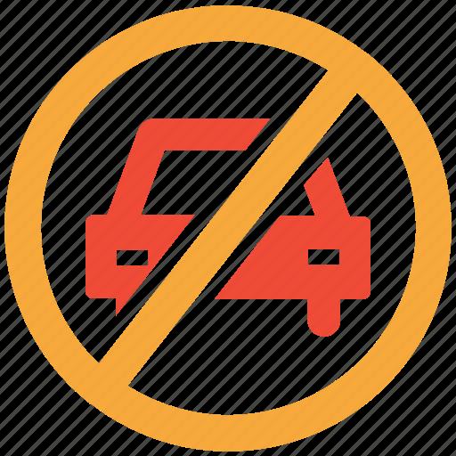 car, forbidden, no car park, wrong way icon