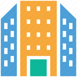 building, estate, flats, real icon