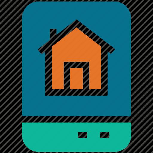 home, internet, mobile, screen icon
