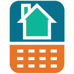 home display, internet, mobile, online searching icon