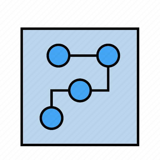 blue, document, print icon