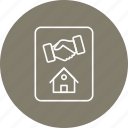 building, deal, estate, home, house icon