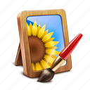 brush, frame, photo, picture icon