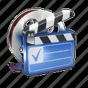 clip, film, movie, roll icon