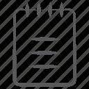 drafting pad, drawing pad, notepad, worksheet, writing booklet