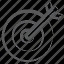 archery, bullseye, dartboard, objective, sports, target board