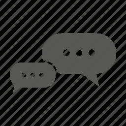 bubble, chat, chatting, massage, talk icon