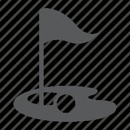 flag, golf, sport icon