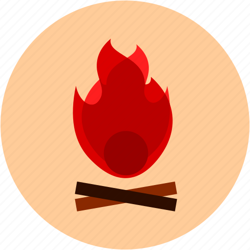 activities, camping, fire, flame, recreational, wood icon