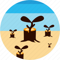 activities, forest, growing, recreational, trees, treestump icon