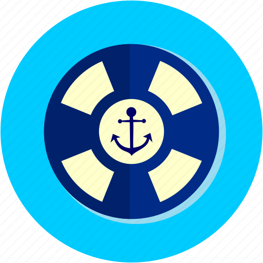 activities, anchor, life, preserver, recreational, ship icon
