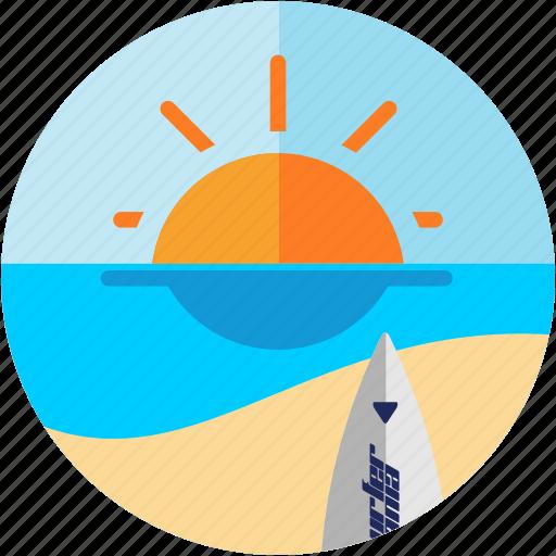 activities, beach, recreational, sea, sun, surfing icon