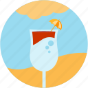 activities, beach, cloud, drink, recreational, sun, umbrella icon
