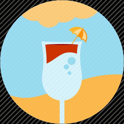 activities, beach, cloud, drink, recreational, sun, umbrella icon