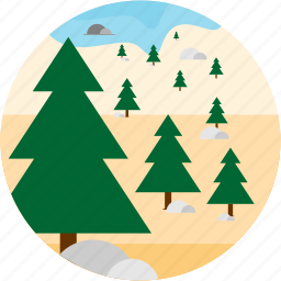activities, forest, hiking, recreational, trees icon