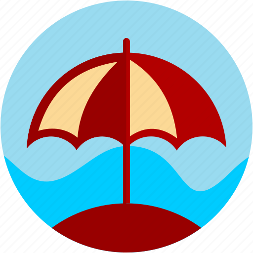 activities, beach, parasol, recreational, water icon