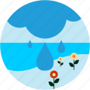 activities, cloud, flowers, lake, rain, recreational icon