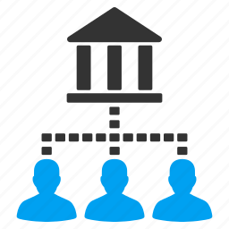 account, bank, client, customer, links, network, person icon