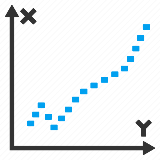 dotted chart, draw, function, graph, plot, statistics, trend icon