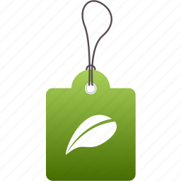 ecology, environmental, friendly, green, label, organic, tag icon