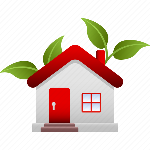 ecology, environment, environmental, green, house, plant, tree icon