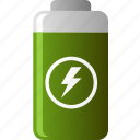 battery, ecology, energy, environmental, green, reusable icon