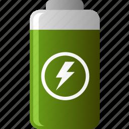 battery, ecology, energy, environmental, green, reusable icon