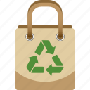bag, environmental, go green, recycle, reusable, shopping icon