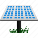 ecology, energy, energy saving, environmental, panel, solar, solar panel icon