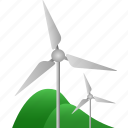 ecology, environmental, power, power source, renewable, windmill icon