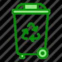 arrow, eco, garbage, recycle, trash