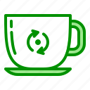 arrow, cup, recycle, reusable icon