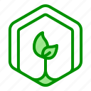 arrow, leaves, plant, recycle, reusable icon