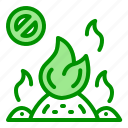 fire, incineration, prohibition, smoke, trash