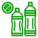 bottle, drink, no, plastic, recycle icon