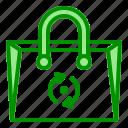 arrow, bag, recycle, reusable, waste, zero icon