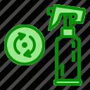 arrow, bottle, recycle, reusable, sprayer icon