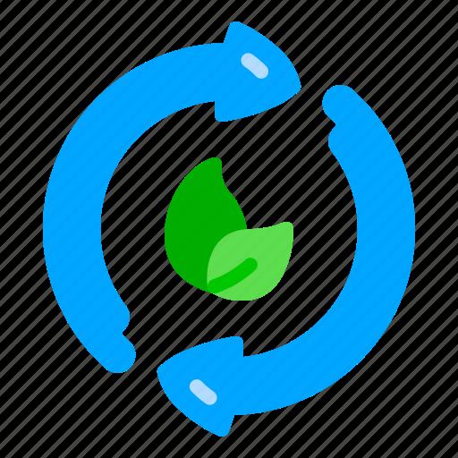 arrow, eco, recycle, reuse, waste, zero icon